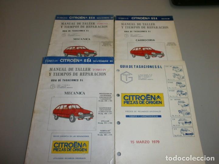 MANUAL DE TALLER CITROEN GSA (Coches y Motocicletas Antiguas y Clásicas - Catálogos, Publicidad y Libros de mecánica)