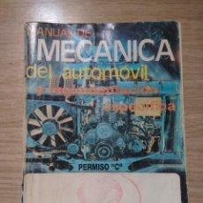 Coches y Motocicletas: MECANICA DEL AUTOMOVIL Y REGLAMENTACION ESPECIFICA VEHICULOS PESADOS PERMISO C. Lote 134720030