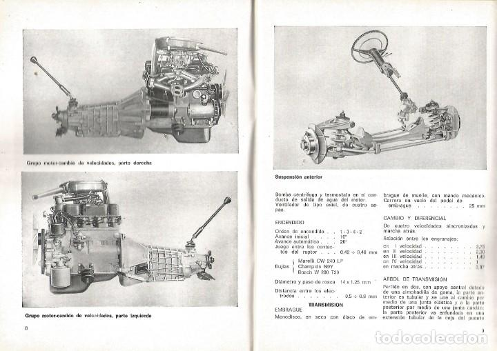 Coches y Motocicletas: COCHE SEAT 124 MANUAL USO ENTRETENIMIENTO PRIMERA EDICION 1969 SEAT - Foto 3 - 135085830
