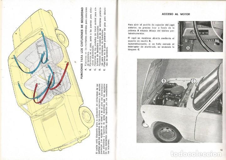 Coches y Motocicletas: COCHE SEAT 124 MANUAL USO ENTRETENIMIENTO PRIMERA EDICION 1969 SEAT - Foto 4 - 135085830