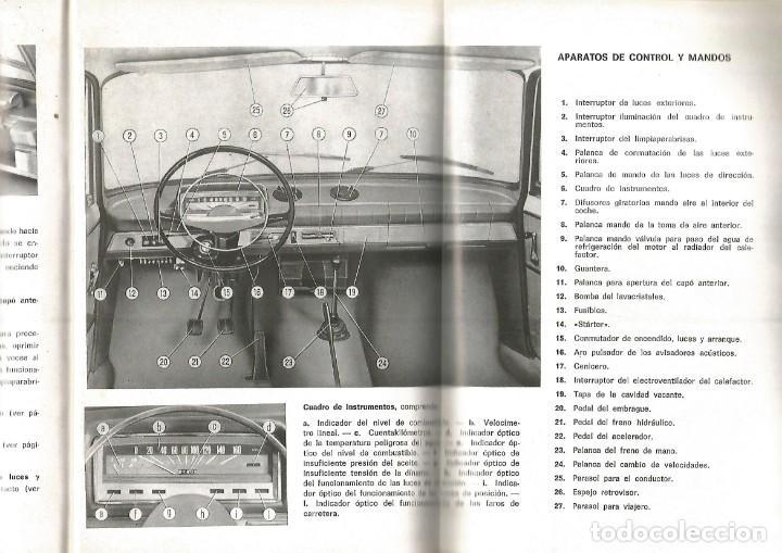 Coches y Motocicletas: COCHE SEAT 124 MANUAL USO ENTRETENIMIENTO PRIMERA EDICION 1969 SEAT - Foto 5 - 135085830