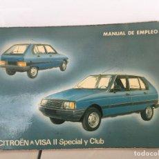 Coches y Motocicletas: CITROEN VISA MANUAL DE USUARIO ORIGINAL 1981. Lote 135529526