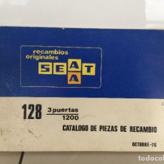 Automobili e Motociclette: SEAT 128 3 PUERTAS 1200 CATALOGO DE PIEZAS DE RECAMBIO 1976. Lote 135533722
