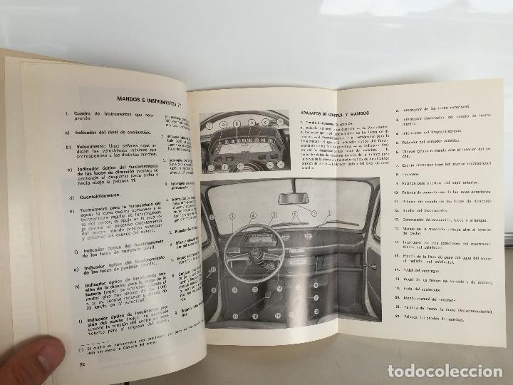 Coches y Motocicletas: SEAT 850 D ESPECIAL MANUAL DE USUARIO 1972 - Foto 3 - 135547274