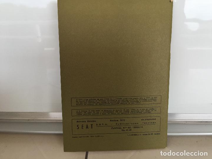 Coches y Motocicletas: SEAT 850 D ESPECIAL MANUAL DE USUARIO 1972 - Foto 5 - 135547274