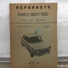 Coches y Motocicletas: SIMCA 900 SIMCA 1000 REPARAUTO ATIKA. Lote 135548754