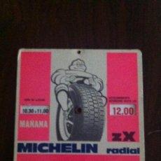 Coches y Motocicletas: DISCO APARCAMIENTO MICHELÍN BIBENDUM ZX RADIAL. AÑO 1960-70S. Lote 135625042