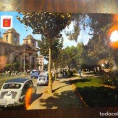Coches y Motocicletas: POSTAL VALENCIA SEAT 600. PLAZA DEL TEMPLE.. Lote 135625390