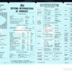 Coches y Motocicletas: SI SISTEMA INTERNACIONAL DE UNIDADES. PEGASO PUBLICIDAD. COMO NUEVO. Lote 135694359