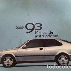 Coches y Motocicletas: ANTIGUO MANUAL DE USUARIO DEL SAAB 93 DEL AÑO 2000 -. Lote 135822510