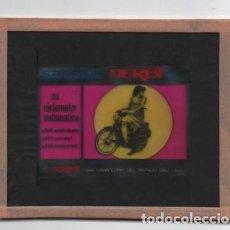 Coches y Motocicletas: (TC-135) ANTIGUA DIAPOSITIVA CINE PUBLICIDAD DERBI SCOTMATIC. Lote 135895638