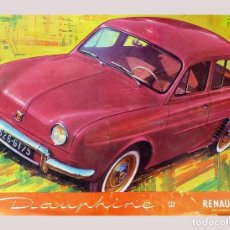 Coches y Motocicletas: RENAULT DAUPHINE - BONITO FOLLETO DE 8 PÁGINAS. Lote 135928342