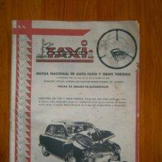Coches y Motocicletas: ¡¡REVISTA DEL AUTOMOVIL DE SERVICIO PUBLICO 'MUTUA,NACIONAL, DE AUTO-TAXIS Y GRAN TURISMO¡¡. Lote 136103362