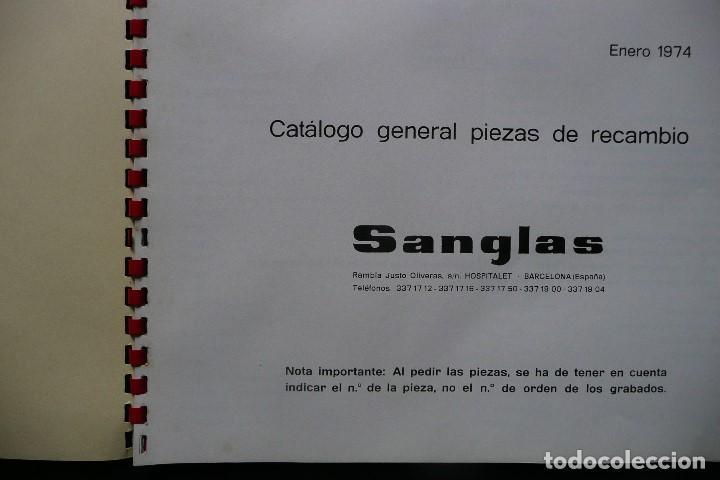 Coches y Motocicletas: SANGLAS 400E-CATALOGO GENERAL PIEZAS DE RECAMBIO (AÑO 1974) - Foto 3 - 136262190