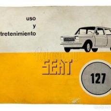 Coches y Motocicletas: CATALOGO PUBLICIDAD MANUAL USO Y ENTRETENIMIENTO SEAT 127 PRIMERA EDICIÓN AÑO 1977 EN CASTELLANO. Lote 136526646