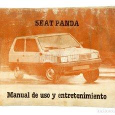 Coches y Motocicletas: CATALOGO PUBLICIDAD MANUAL USO Y ENTRETENIMIENTO SEAT PANDA PRIMERA EDICIÓN AÑO 1980 EN CASTELLANO . Lote 136526674