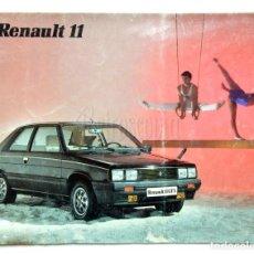 Coches y Motocicletas: CATÁLOGO PUBLICIDAD RENAULT 11 GTC GTX GTL TXE TURBO GTD AÑO 1985 EN CASTELLANO. Lote 136588682