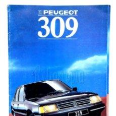 Coches y Motocicletas: CATALOGO PUBLICIDAD PEUGEOT 309 GL GR SR GLD SRD PROFIL AÑO 1988 EN CASTELLANO. Lote 136591182