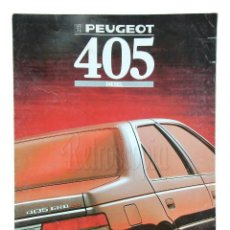 Coches y Motocicletas: CATALOGO DESPLEGABLE PUBLICIDAD PEUGEOT 405 AÑOS 80 EN CASTELLANO. Lote 136591662