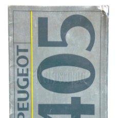 Coches y Motocicletas: CATALOGO PUBLICIDAD PEUGEOT 405 AÑOS 80 EN CASTELLANO. Lote 136592342