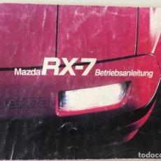 Coches y Motocicletas: CATÁLOGO MANUAL AUTOMÓVIL MAZDA RX-7 - AÑO 1985. Lote 136651402