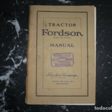 Coches y Motocicletas: TRACTOR FORDSON MANUAL FORD MOTOR COMPANY SAE BARCELONA AÑOS 40. Lote 136718778