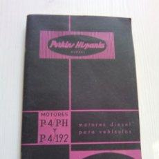 Coches y Motocicletas: MANUAL MOTORES DIESEL PERKINS HISPANIA 1961. Lote 137191698