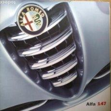 Coches y Motocicletas: CATÁLOGO ALFA ROMEO 147. Lote 137389442