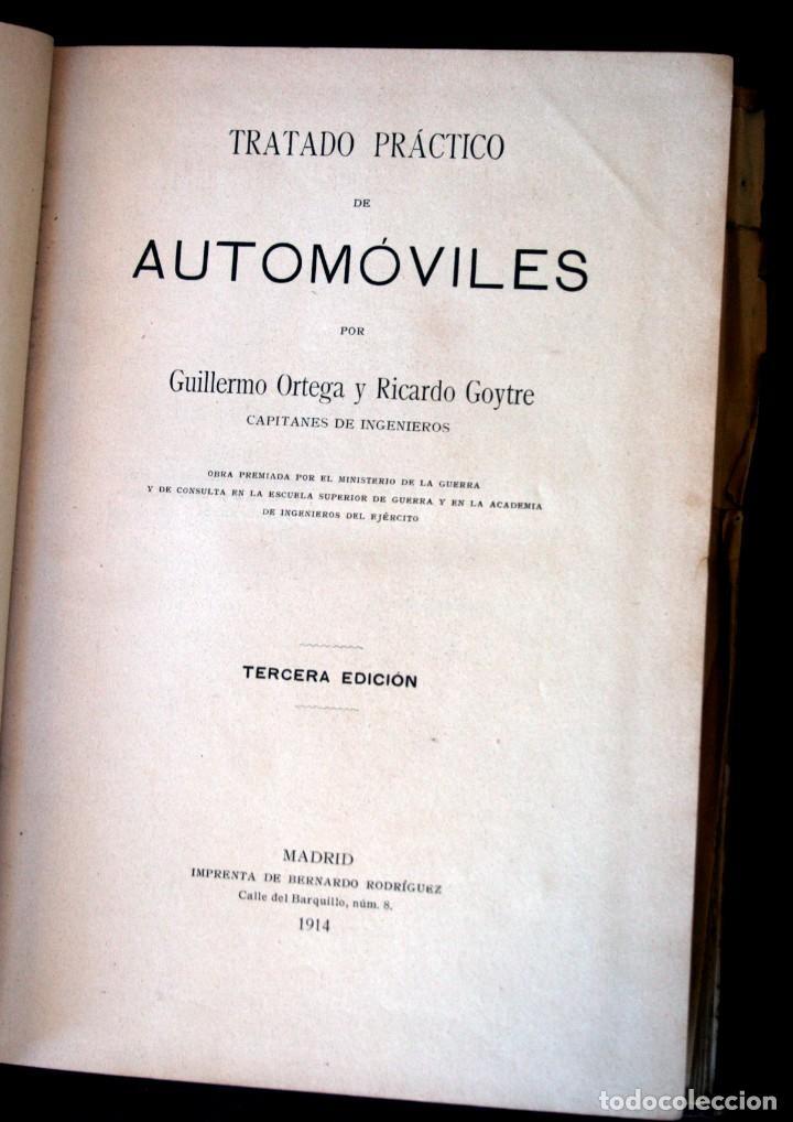 Coches y Motocicletas: TRATADO PRACTICO DE AUTOMOVILES - GUILLERMO ORTEGA / RICARDO GOYTRE - 1914 - Foto 8 - 137561850