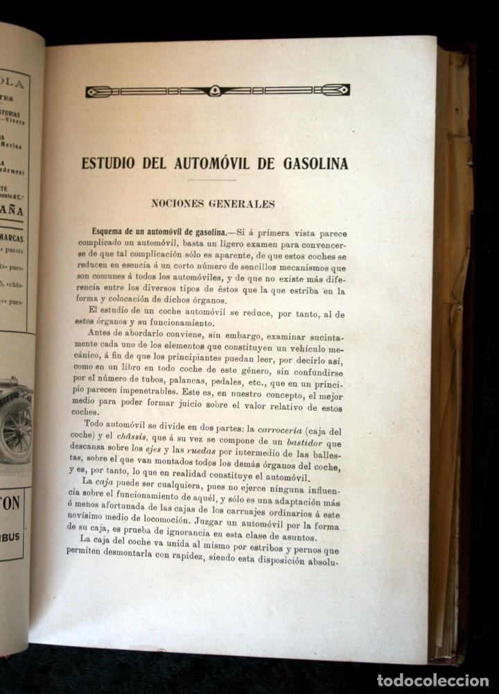 Coches y Motocicletas: TRATADO PRACTICO DE AUTOMOVILES - GUILLERMO ORTEGA / RICARDO GOYTRE - 1914 - Foto 9 - 137561850