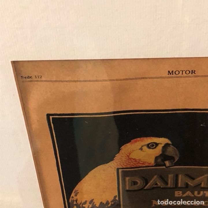 Coches y Motocicletas: Antigua lámina publicitaria Mercedes Benz, 1919, enmarcada - Foto 3 - 137590228