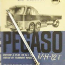 Coches y Motocicletas: CATALOGO CAMION ANTIGUO PEGASO ENASA. RARÍSIMO Y ORIGINAL CATALOGO DE CAMIÓN PEGASO PROTOTIPO 1957. Lote 138015292