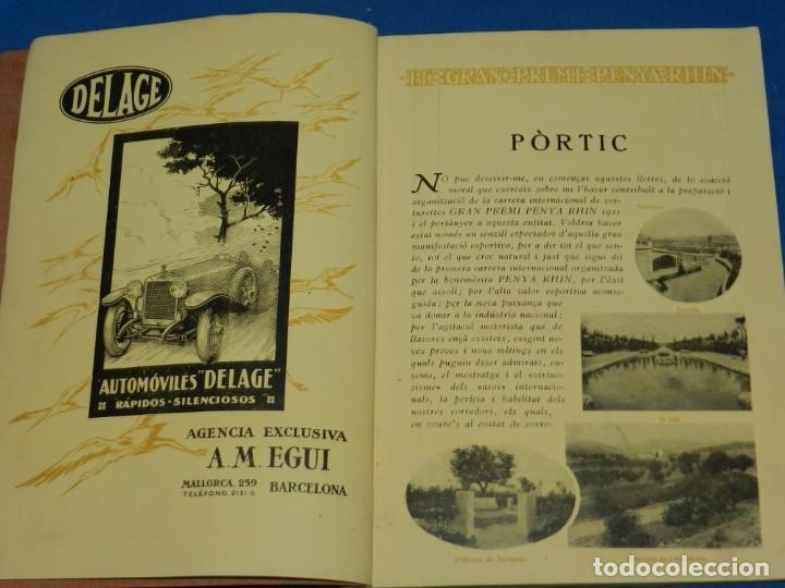Coches y Motocicletas: CATALOGO PROGRAMA PENYA RHIN II GRAN PREMI 1922 VILAFRANCA DEL PENEDES , COCHES - Foto 3 - 138048138