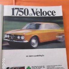 Coches y Motocicletas: PUBLICIDAD 1968 - COLECCION COCHES - ALFA ROMEO 1750 GT VELOCE. Lote 138273470
