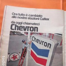 Coches y Motocicletas: PUBLICIDAD 1969 - COLECCION COCHES - GASOLINERAS CHEVRON - TRASERA NSU PRINZ 4L. Lote 138554834