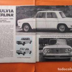 Coches y Motocicletas: ARTICULO 1969 - LANCIA FULVIA BERLINA 1300 - 3 PAGINAS. Lote 138558446