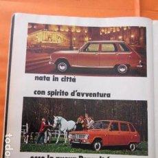 Coches y Motocicletas: PUBLICIDAD 1969 - COLECCION COCHES - RENAULT 6. Lote 138558570