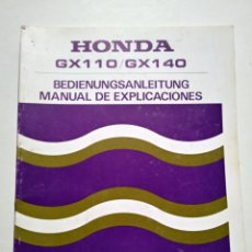 Coches y Motocicletas: HONDA GX 110/GX140. MANUAL DE EXPLICACIONES. AÑO 1986.. Lote 138665885