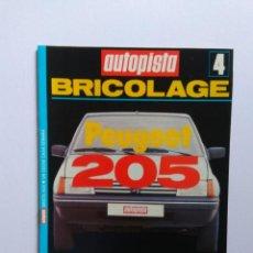 Coches y Motocicletas: AUTOPISTA BRICOLAGE Nº 4 PEUGEOT 205. Lote 138941066