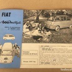 Coches y Motocicletas: FIAT 600 MULTIPLA SEAT 600 MULTIPLE CATALOGO ORIGINAL AÑOS 50. Lote 138986622