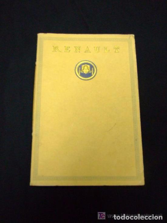 CATÁLOGO COCHES RENAULT ORIGINAL DE 1914 (Coches y Motocicletas Antiguas y Clásicas - Catálogos, Publicidad y Libros de mecánica)
