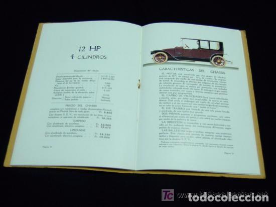 Coches y Motocicletas: CATÁLOGO COCHES RENAULT ORIGINAL DE 1914 - Foto 7 - 139036402