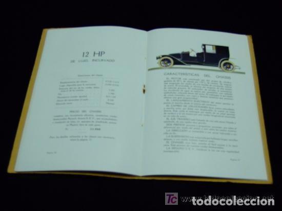 Coches y Motocicletas: CATÁLOGO COCHES RENAULT ORIGINAL DE 1914 - Foto 8 - 139036402