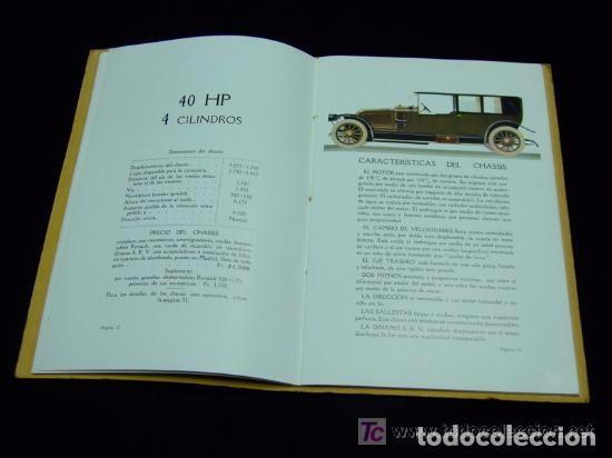 Coches y Motocicletas: CATÁLOGO COCHES RENAULT ORIGINAL DE 1914 - Foto 10 - 139036402