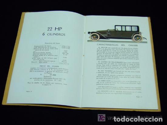 Coches y Motocicletas: CATÁLOGO COCHES RENAULT ORIGINAL DE 1914 - Foto 11 - 139036402