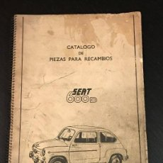 Coches y Motocicletas: SEAT 600 D CATALOGO DE PIEZAS PARA RECAMBIOS - NO MANUAL TALLER LIBRO RENAULT CITROEN PORSCHE AUTHI. Lote 139665814