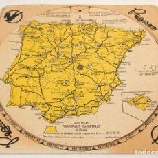 Coches y Motocicletas: DISCO GIRATORIO, DISTANCIAS ENTRE CIUDADES ESPAÑOLAS, PEGASO ENASA PUBLICIDAD AUTOMOVIL. Lote 139720718