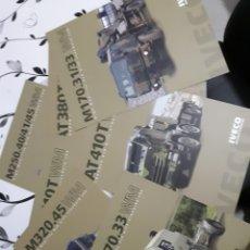 Coches y Motocicletas: SIETE FICHAS TÉCNICAS CAMIONES MILITARES IVECO, NO PEGASO. Lote 139911749