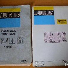 Coches y Motocicletas: CATÁLOGO JURID Y LISTAS DE PRECIOS PIEZAS DE COCHE 1990 REPARACIÓN AUTOMÓVILES. Lote 140324906