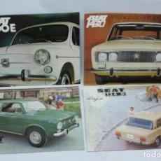 Coches y Motocicletas: CATALOGO COCHES SEAT 600 E, 850, 1430, 124 D LUJO, AÑOS 60, MIDEN 28 X 20,5 CMS. AÑO 1970 APROX.. Lote 140360010